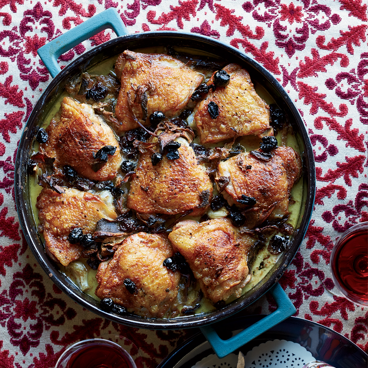 Braised Chicken Thighs with Potatoes, Porcini and Dried ...