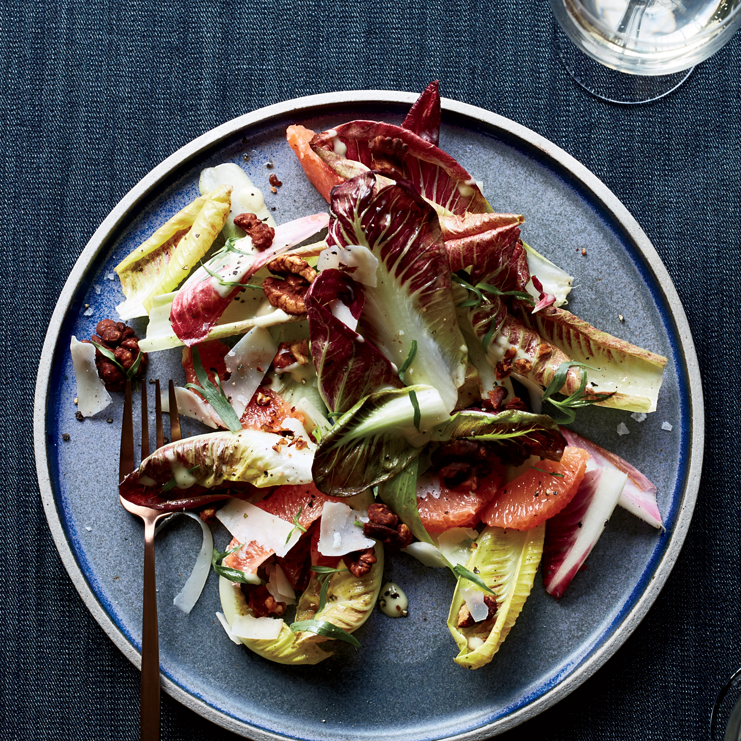 Endive-and-Manchego Salad with Smoked Cocoa Walnuts Recipe ...
