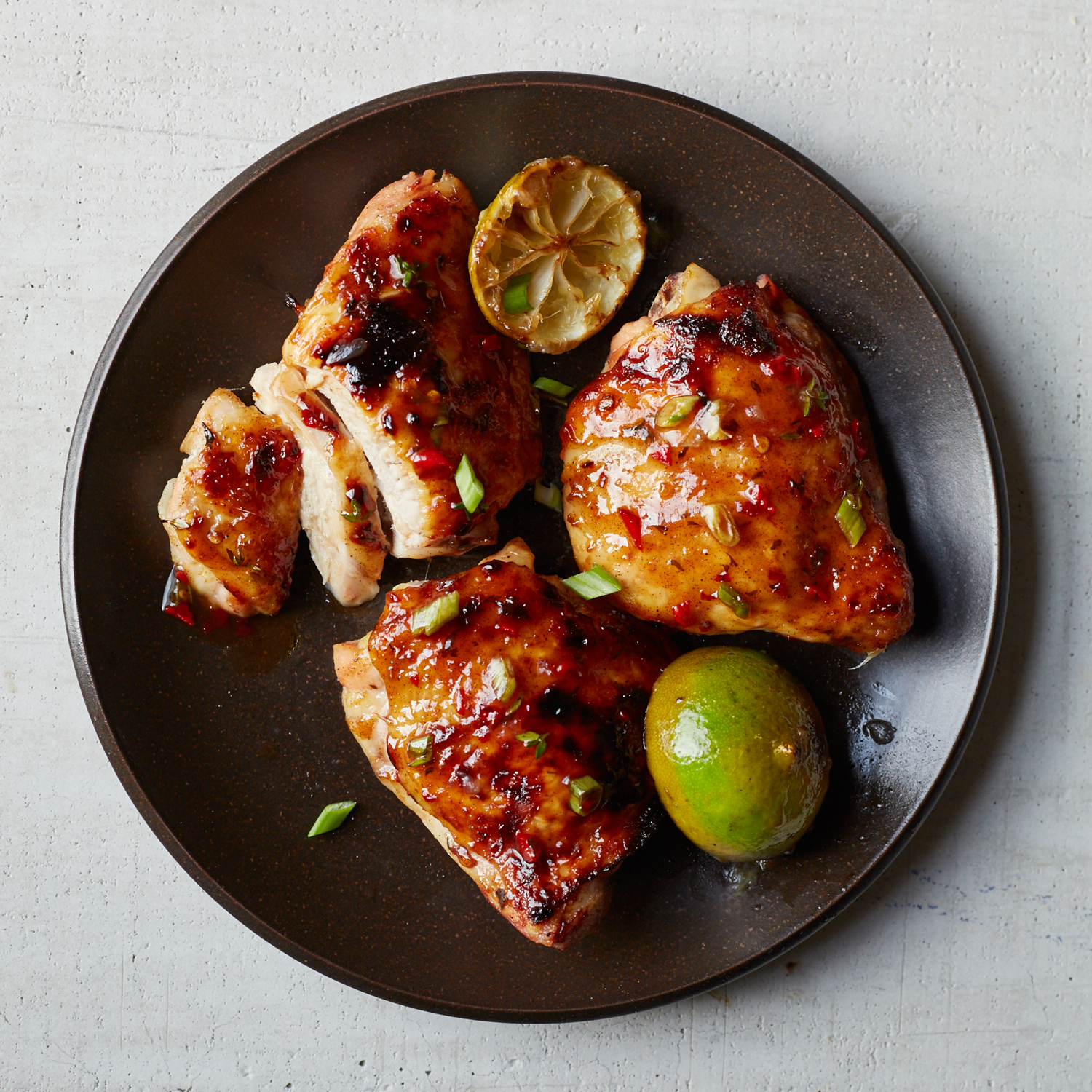 Roast Jerk Chicken Thighs Recipe - Ian Knauer | Food & Wine
