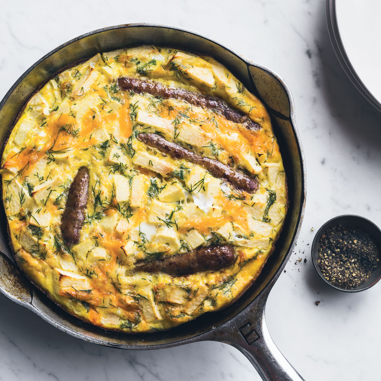 Sausage-and-Apple Frittata with Dill Recipe - Kay Chun | Food & Wine