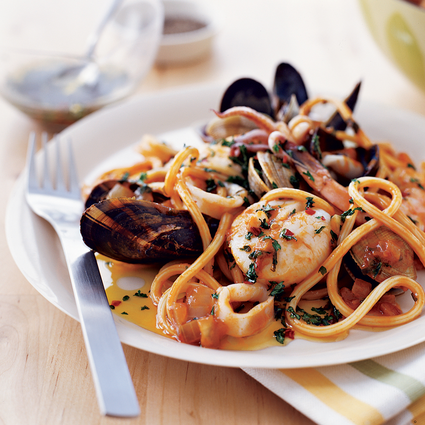 Seafood Pasta With Tuscan Hot Oil Recipe