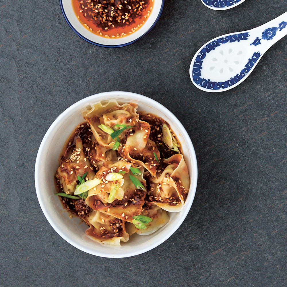 wontons classic chinese wontons sichuan red oil wontons recipe ...