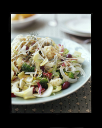 Crunchy Winter Vegetable Salad with Olives and Capers