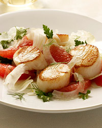 Grilled Scallops with Parsley Salad