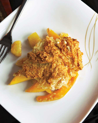 Tropical Fruit Cobbler with Coconut Macaroon Topping