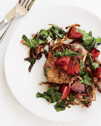 Pork with Arugula, Prosciutto & Tomatoes.