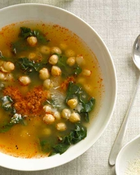 ... and a chickpea soup with swiss chard chickpeas and swiss chard