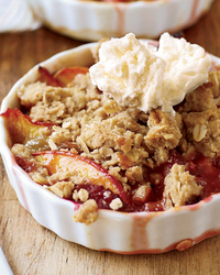 Nectarine-and-Plum Crisp with Oatmeal Streusel Recipe -John Currence ...
