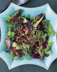 Beet, Pickled Cherry and Crispy Shallot Salad Recipe -Mourad Lahlou ...