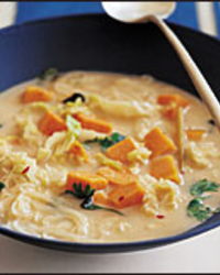 Asian Coconut-Cabbage Soup with Lemongrass