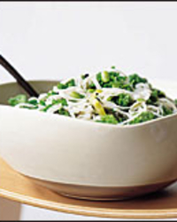 Asian Noodles with Fresh and Pickled Greens