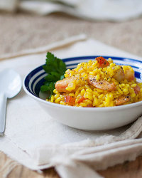 Saffron and Shrimp Risotto