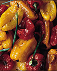 Roasted Cherry Peppers with Balsamic Vinegar