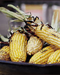 Smoky Grilled Corn with Parmesan Butter Recipe -Steven Raichlen | Food ...