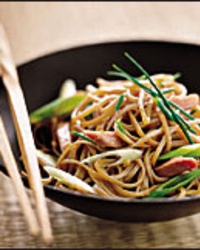 Soba Noodle Salad with Smoked Duck