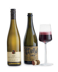 Paul Blanck Pinot Blanc d'Alsace and NV Lini Labrusca Rosso Lambrusco. Photo © Antonis Achilleos.