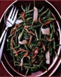 Green Bean Salad with Seared Ham