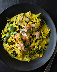 Curried Coconut-Cabbage and Kale