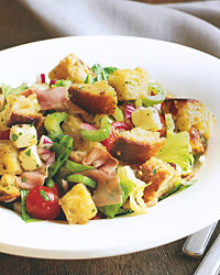 Bread Salad with Fontina and Black-Forest Ham