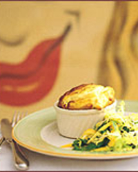 Goat Cheese Souffle with Thyme