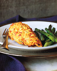 Chicken Breasts with Creamy Vegetable Topping