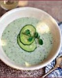 Cold Cucumber and Yogurt Soup with Dill