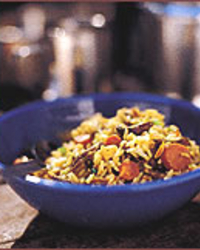 Curried Fried Rice with Beef Jerky