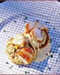 Curried Lobster Salad on Johnnycakes