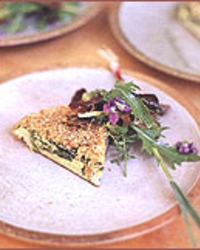 Spring Spinach and Garlic Frittata
