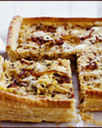 Caramelized Onion and Polenta Tart Recipe - Bill Telepan | Food & Wine