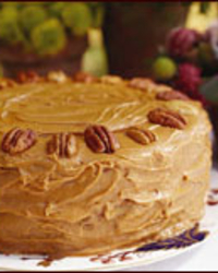 Pecan-Spice Cake with Caramel Frosting Recipe - Van Wyck Family | Food ...