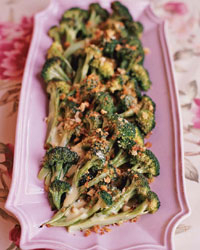 Broccoli with Herbed Hollandaise Sauce and Toasted Bread Crumbs
