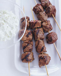 Lamb Kebabs with Cool Cucumber Salad