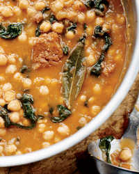 Chickpea Stew with Spinach and Chorizo
