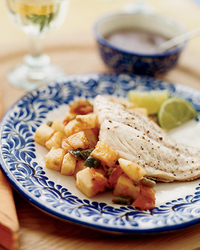 Grouper with Jicama and Black Bean Sauce