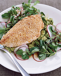 Sesame Chicken Salad with Ginger-Lime Dressing Recipe ...