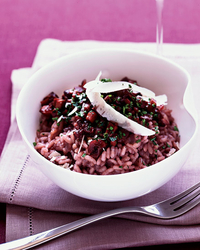 "Red Wine Risotto with Mushroom ""Marmalade"" Recipe -Jean-Georges ..."