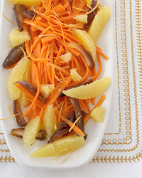 Moroccan Carrot Salad with Oranges and Medjool Dates