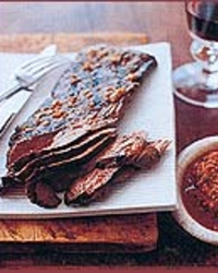 Grilled Skirt Steak with Hot Chilean Salsa