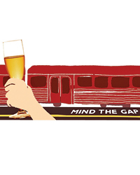 trains and champagnes