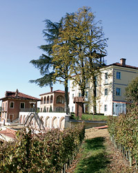 Villa Tiboldi, located at the Màlvira winery just north of Alba, has nine antiques-filled guest rooms that attract visitors like Microsoft's Paul Allen.