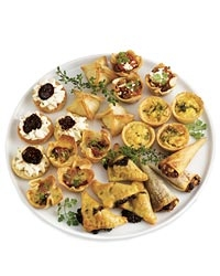 Classics hors d'oeuvres sampler platter from Dean and DeLuca.