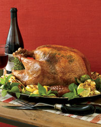 Roast Turkey with Lemons and Chives.
