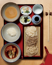 Soba noodles at Matsugen in New York City.