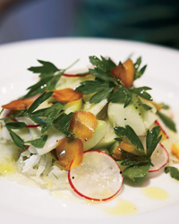 Cucumber-and-radish salad at Flour + Water in San Francisco, California.
