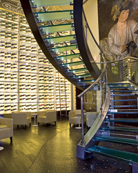 The wine wall at Oeno in Dubai is part of the spectacle. Photo courtesy of Oeno at the Westin Hotel, Dubai.