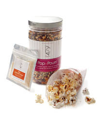 p.i.y. popcorn kit, 479° popcorn's new pop-it-yourself kit comes with a jar of organic popcorn kernels and four terrific flavoring blends: two salts and two sugars. $35; 479popcorn.com.