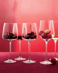 For a scent-centric party, set out foods — like chocolate, cherries or lychees — that echo wine aromas.