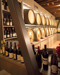 San Francisco's Barrique serves 18 wines straight from the barrel. Photo © Anna Hiatts.