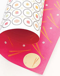 Whimsy's reversible wrapping paper.